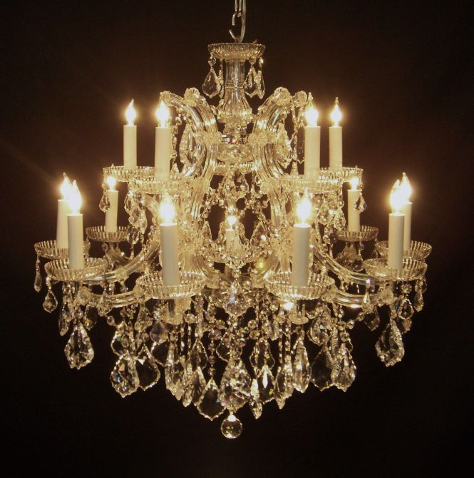 Antique Chandeliers 16 Light Silver Italian Crystal Chandelier 28 Tall And Wide