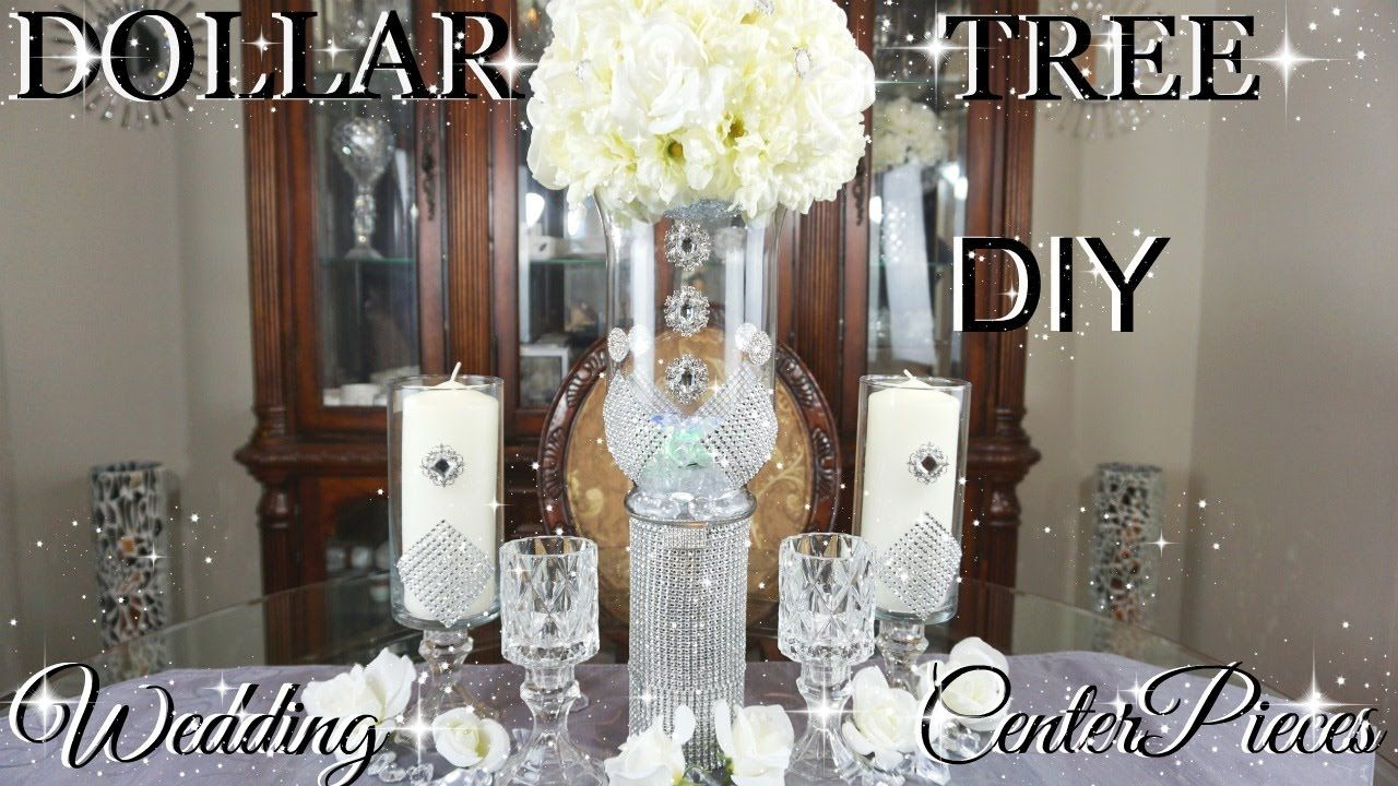 DIY DOLLAR TREE GLAMOROUS WEDDING CENTERPIECES WITH