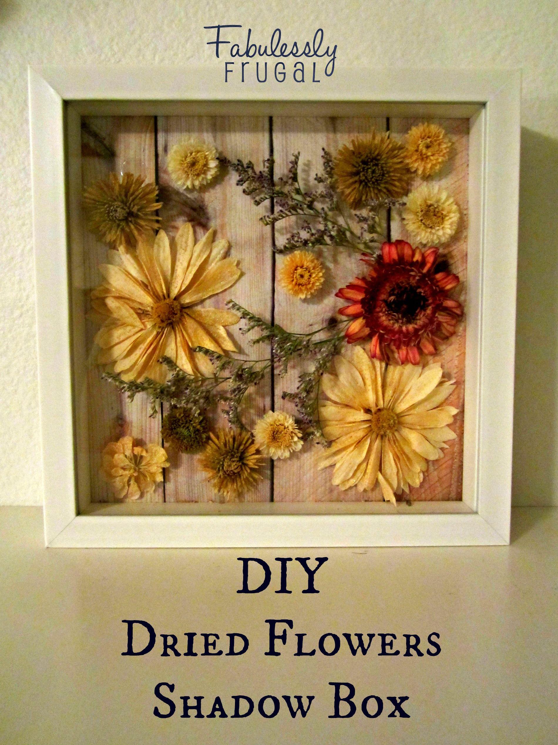 DIY Dried Flowers Shadow Box Window types, Shadow box