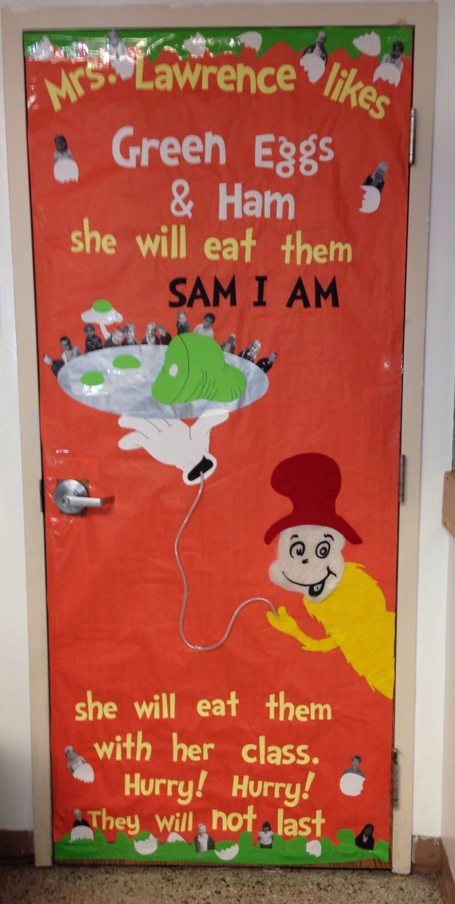 Green Eggs And Ham Door Decorating Will Keep Student