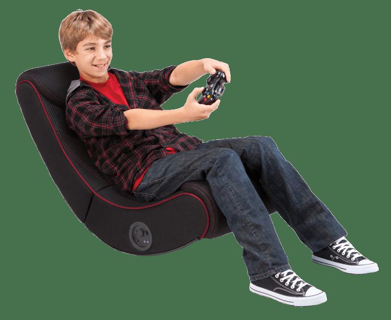 Rocker Red Striped Gaming Chair Multimedia gaming