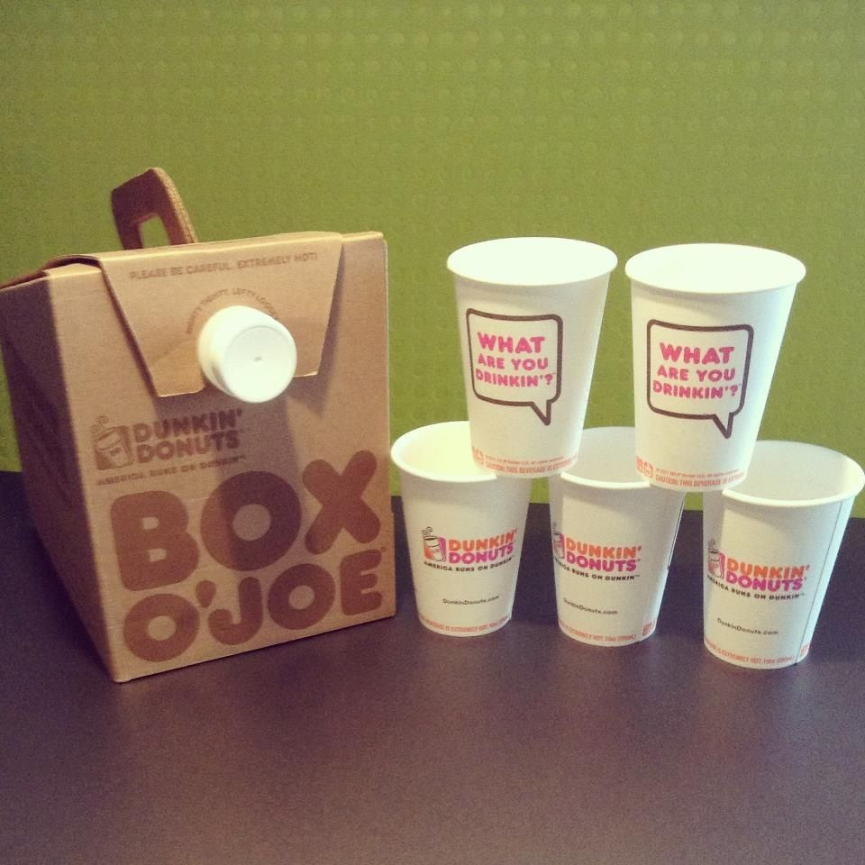 Coffee in a box how wonderful!! Dunkin' Donuts