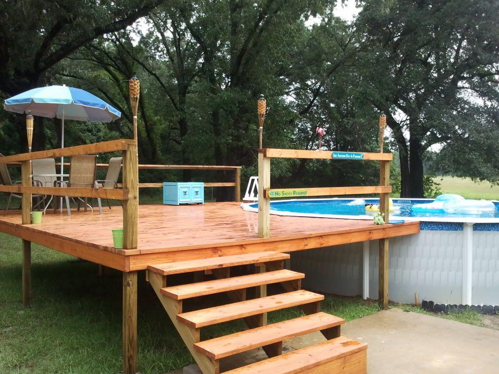 Homemade Above Ground Swimming Pool Ideas. homebuilt diy concrete