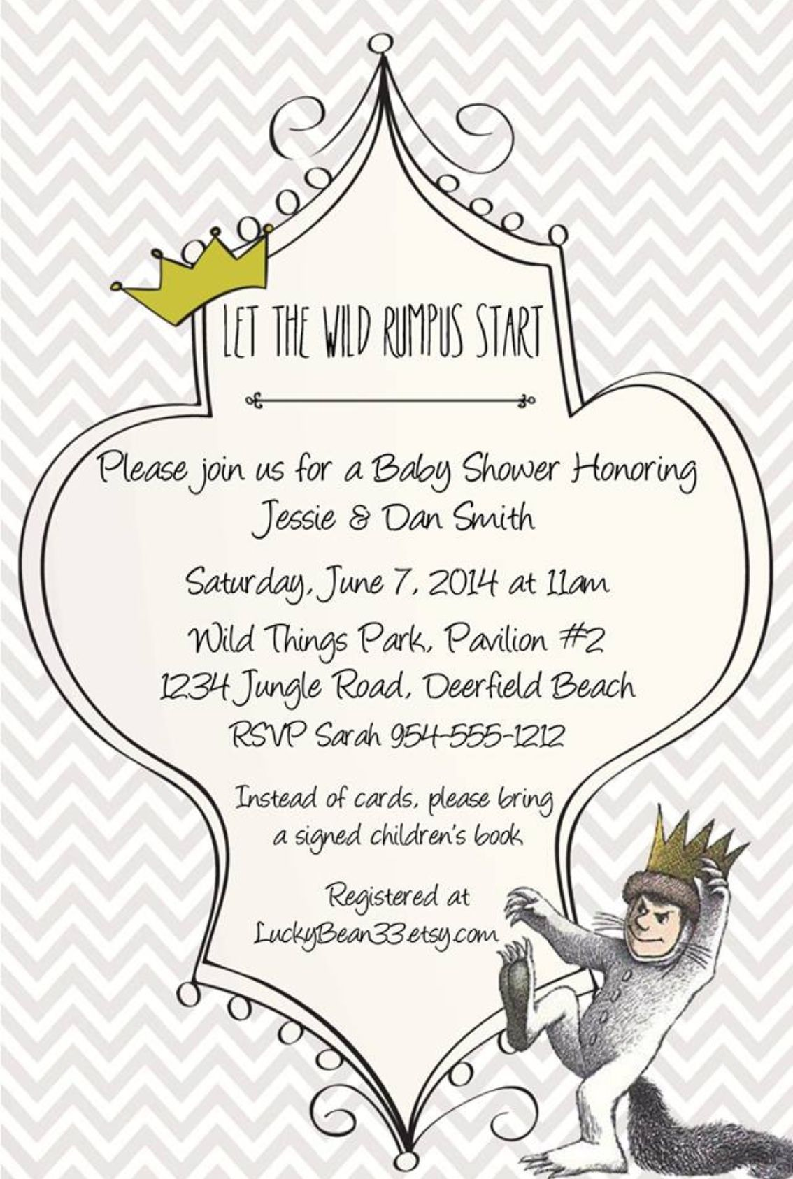 Where The Wild Things Are Invitation Template
