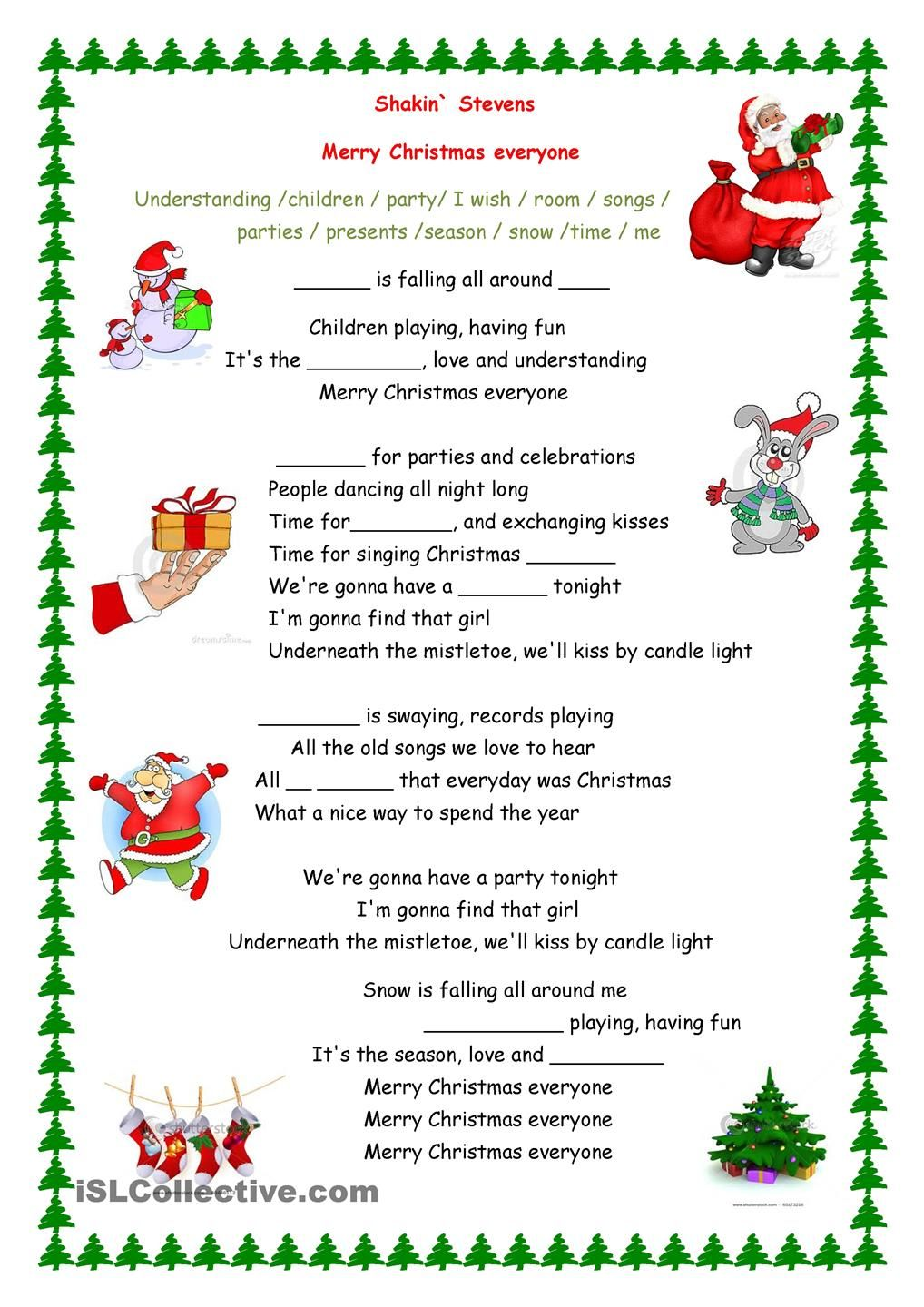 Merry Christmas everyone song Christmas Lessons