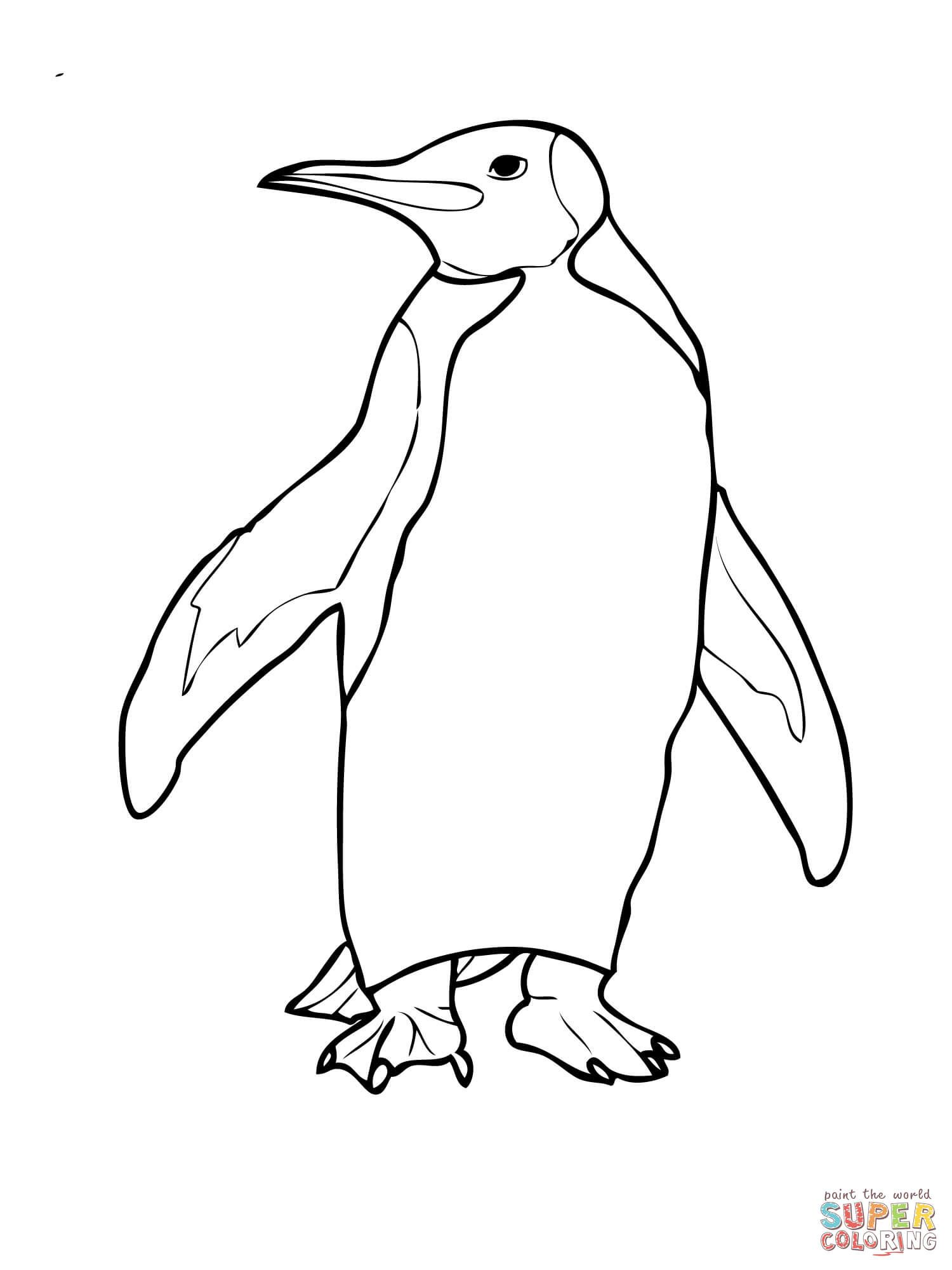 King Penguin Coloring Page