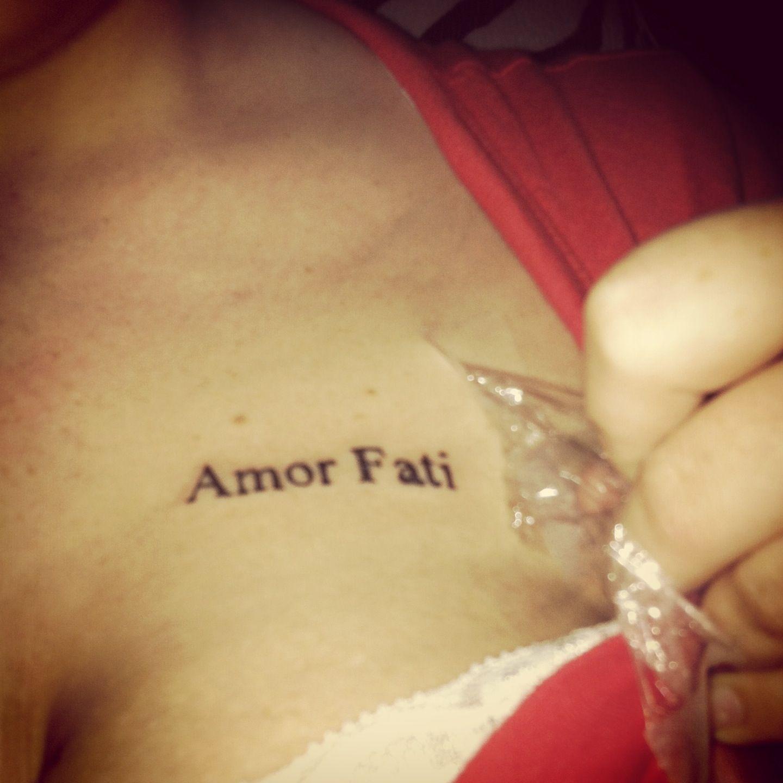 "My ""Amor Fati"" tat. Tattoos Pinterest Tat and Amor"