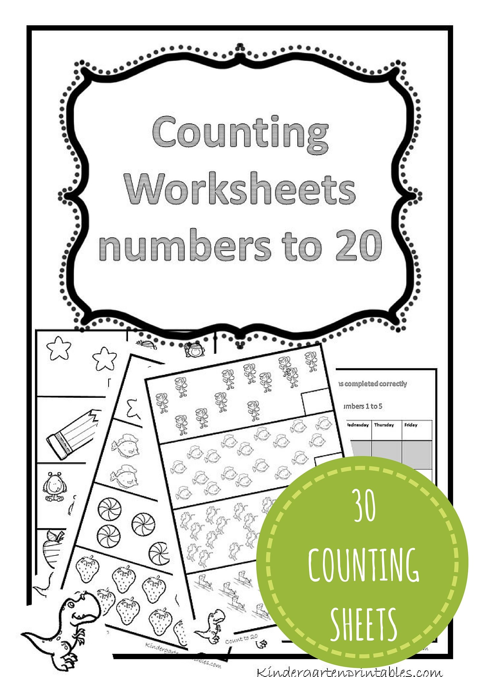 Counting Worksheets 1 20 Free Printable Workbook Counting Worksheets 1 20
