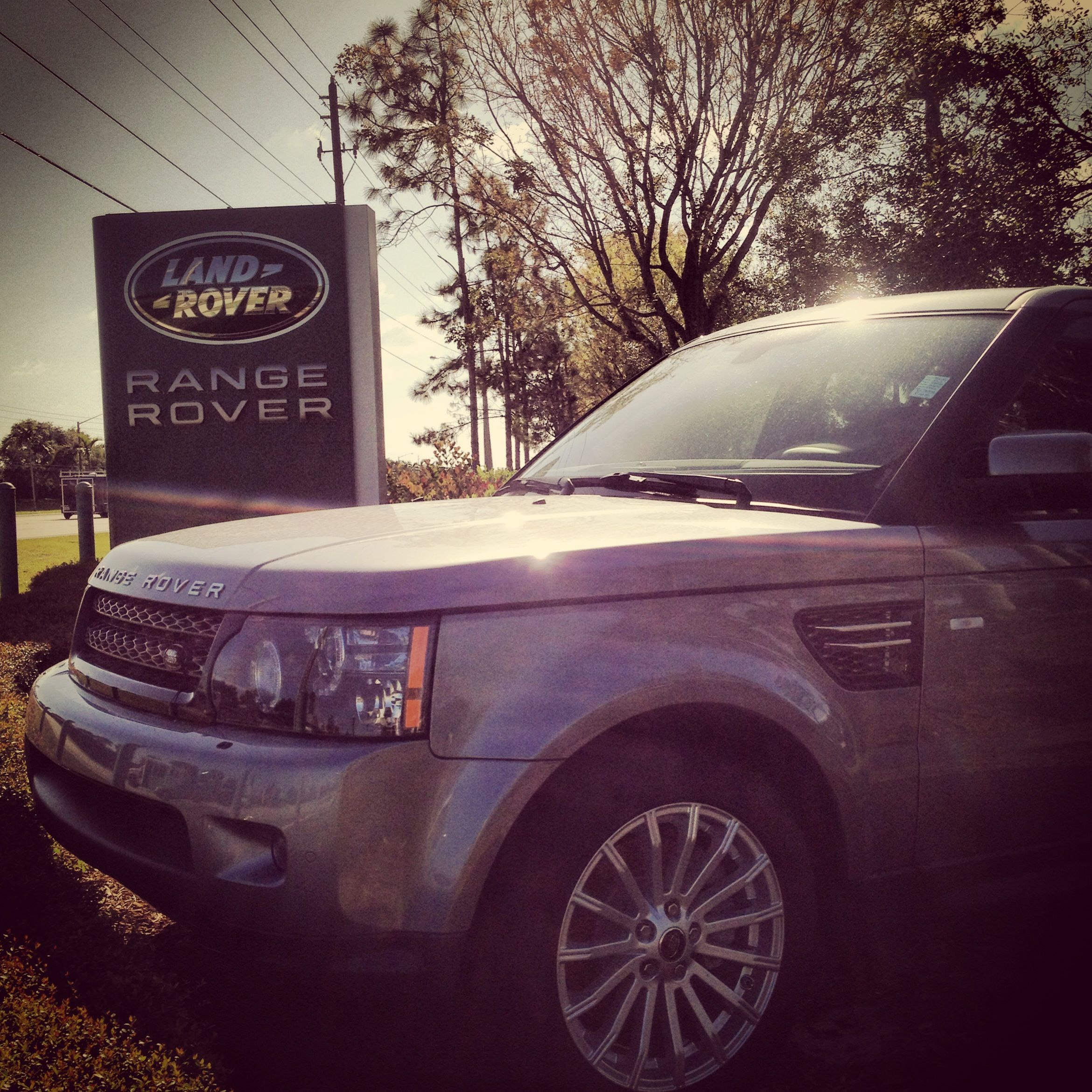 Featuring a Range Rover Sport at the entrance to our dealership