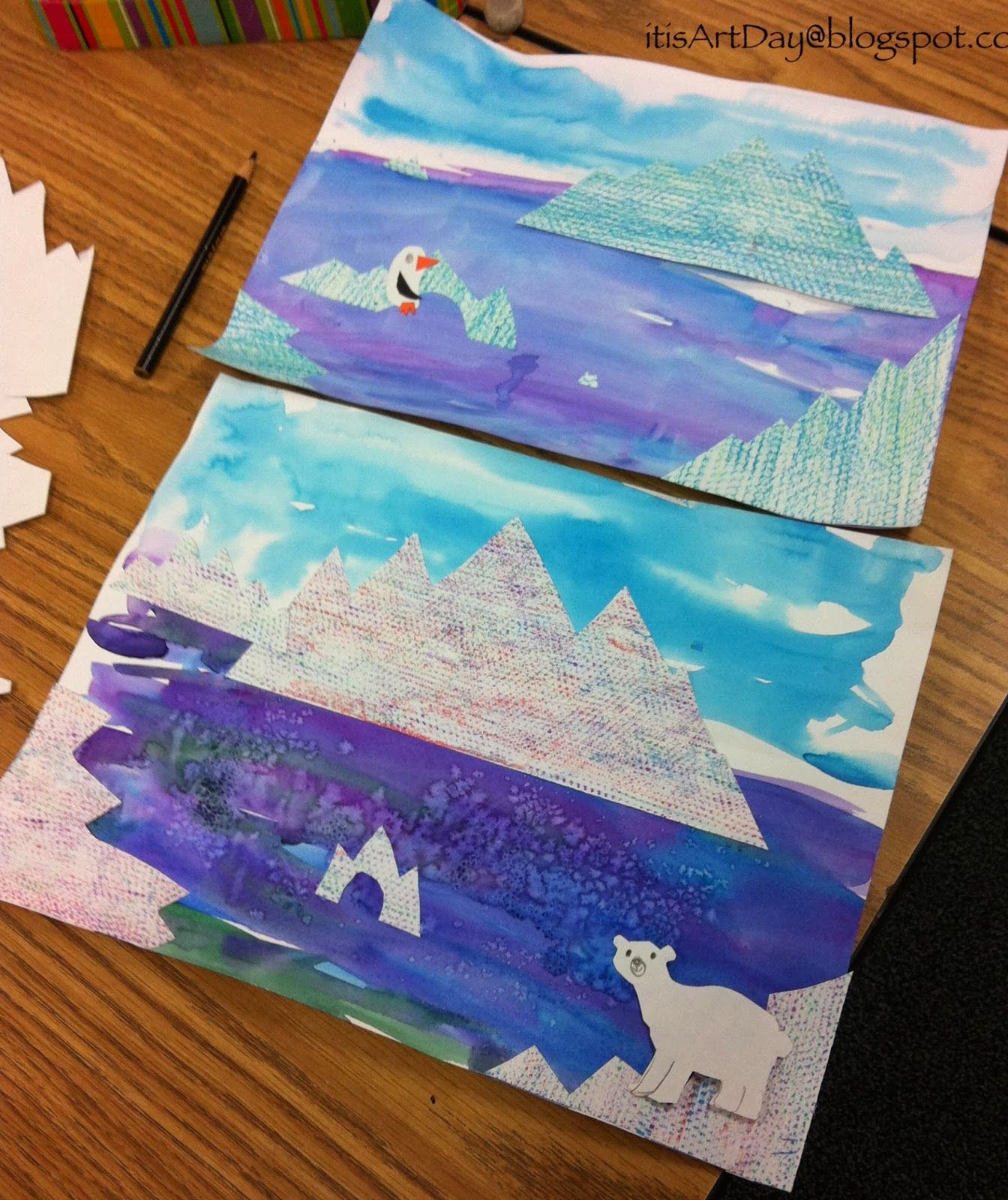 To tie in with Operation Arctic It is Art Day! Icebergs
