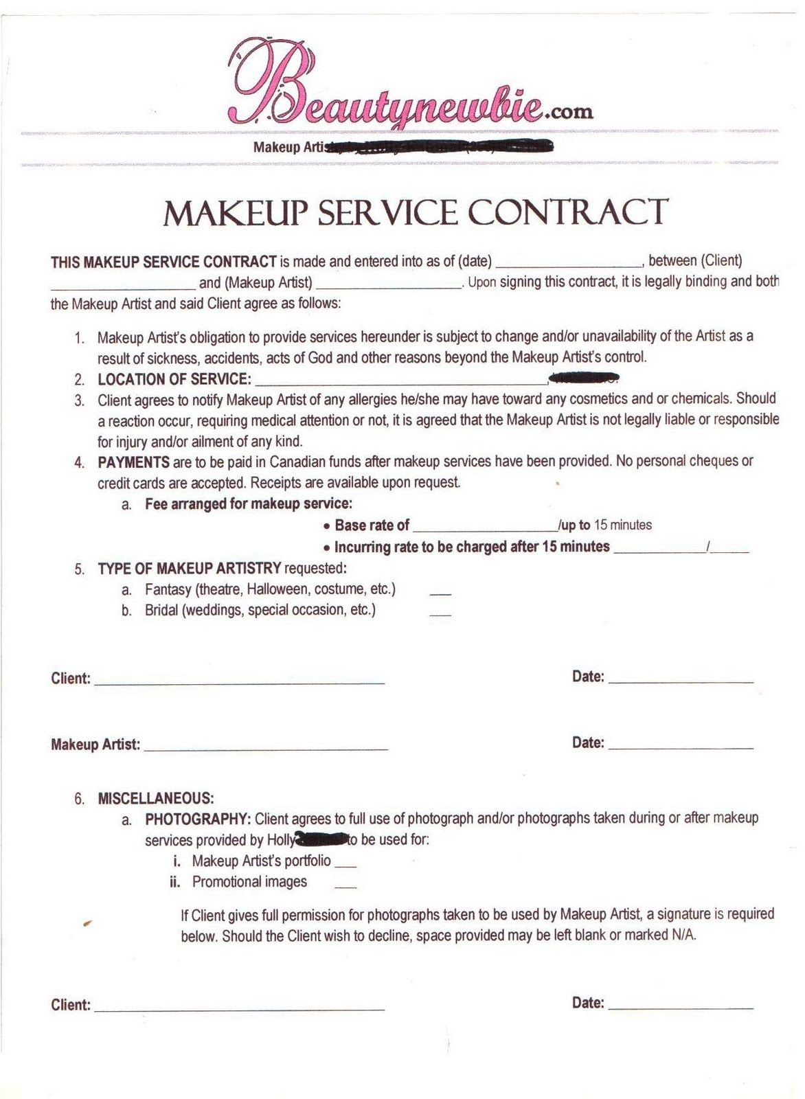 Doc405526 Basic Service Contract Contract For Services – Simple Service Contract