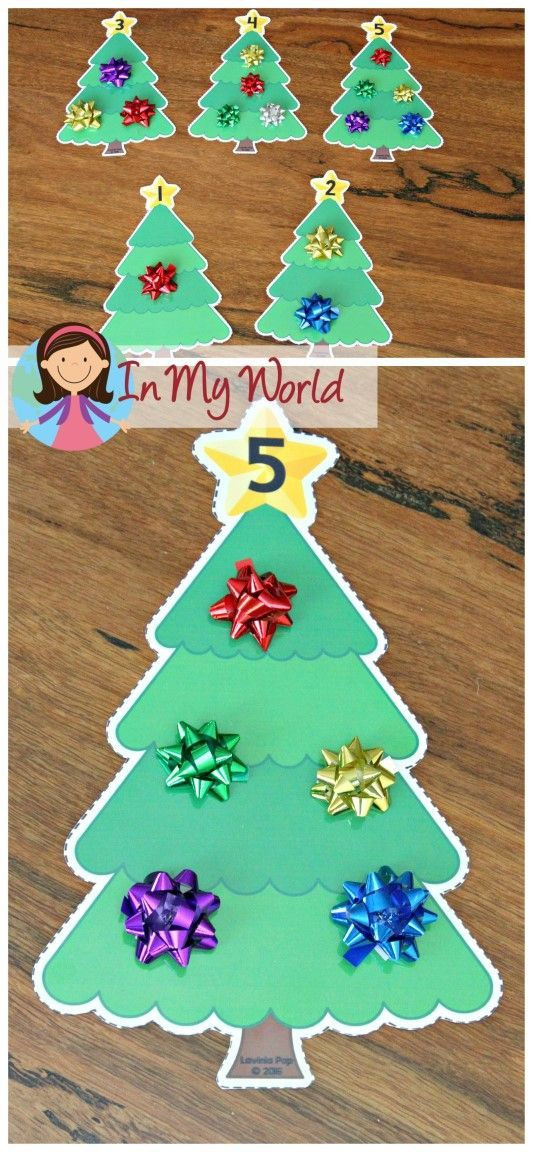 Christmas Preschool Centers Christmas tree, Count and Free