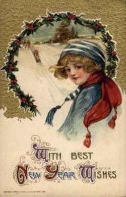 Free Vintage Postcard Images Happy New Year Vintage