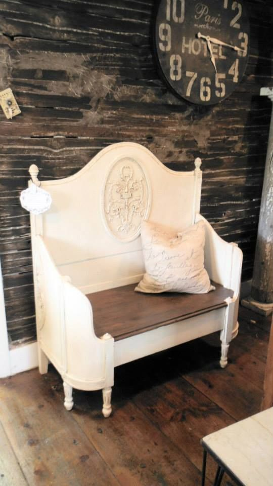 Antique Bed Repurposed Into Bench Nice French Paris Chic Style By Zoey S