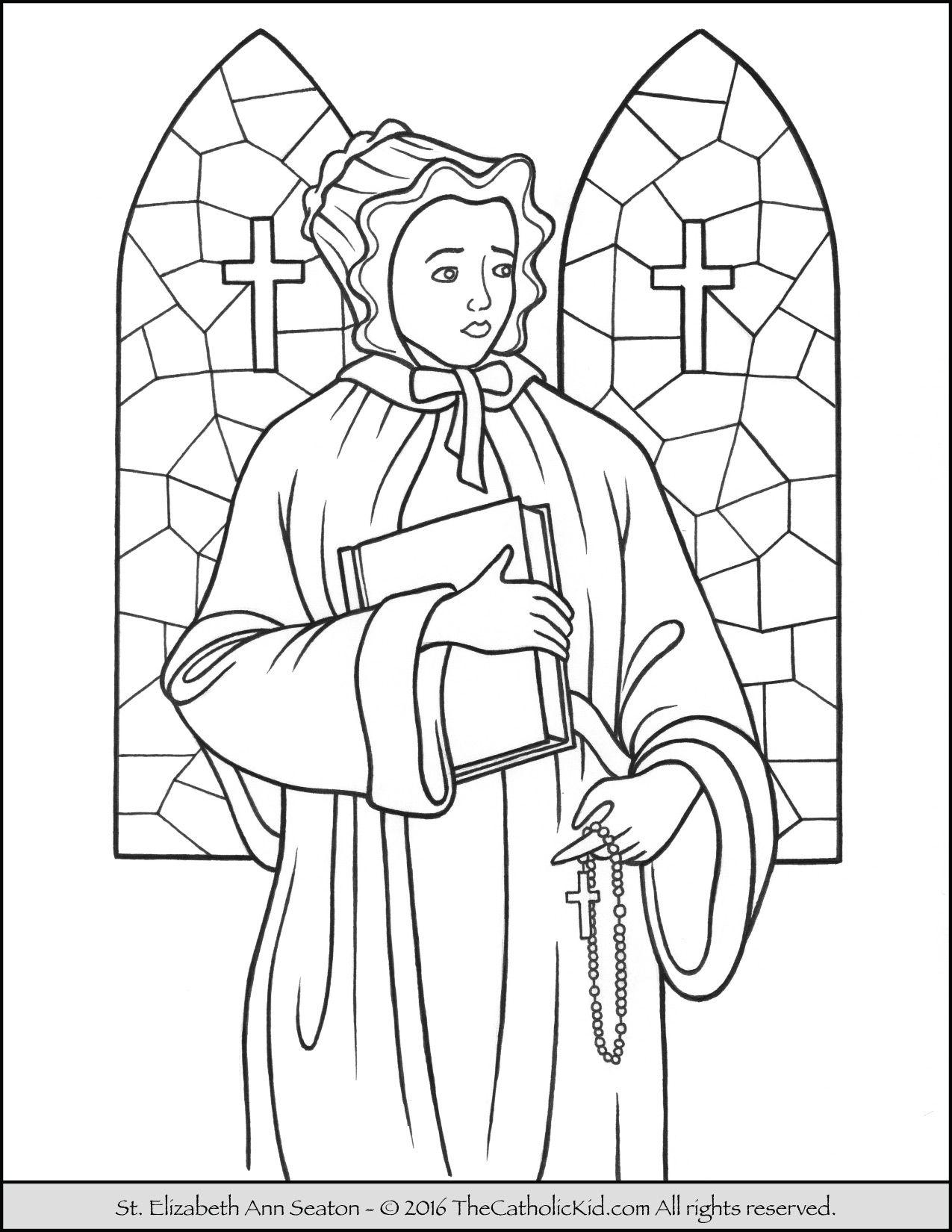 St Elizabeth Ann Seton Coloring Page Sketch Coloring Page