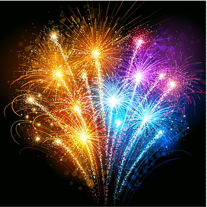 Fireworks Background Vector Free Vector Graphic
