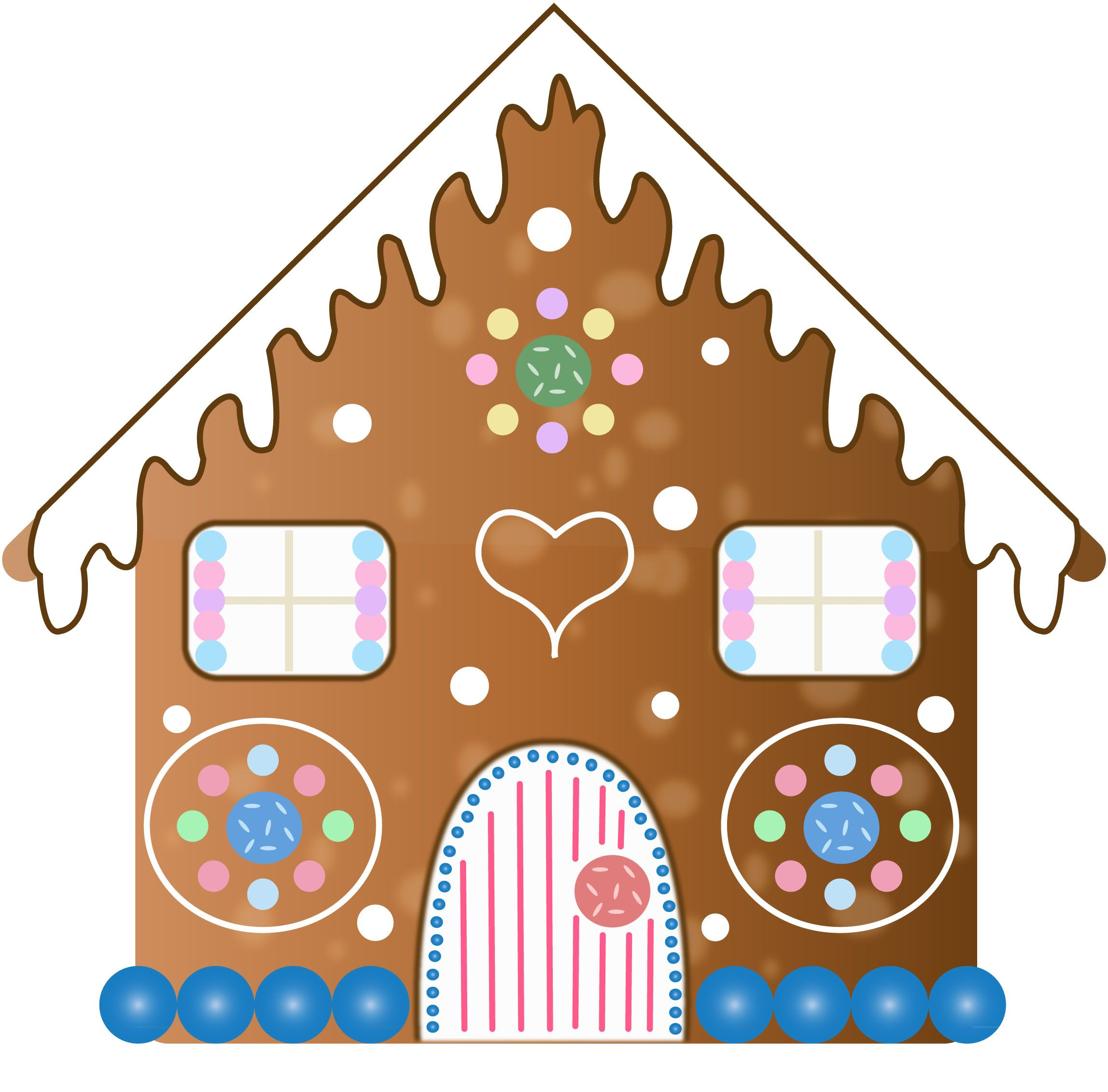 GINGERBREAD HOUSE • CLIP ART GINGERBREAD CLIPART