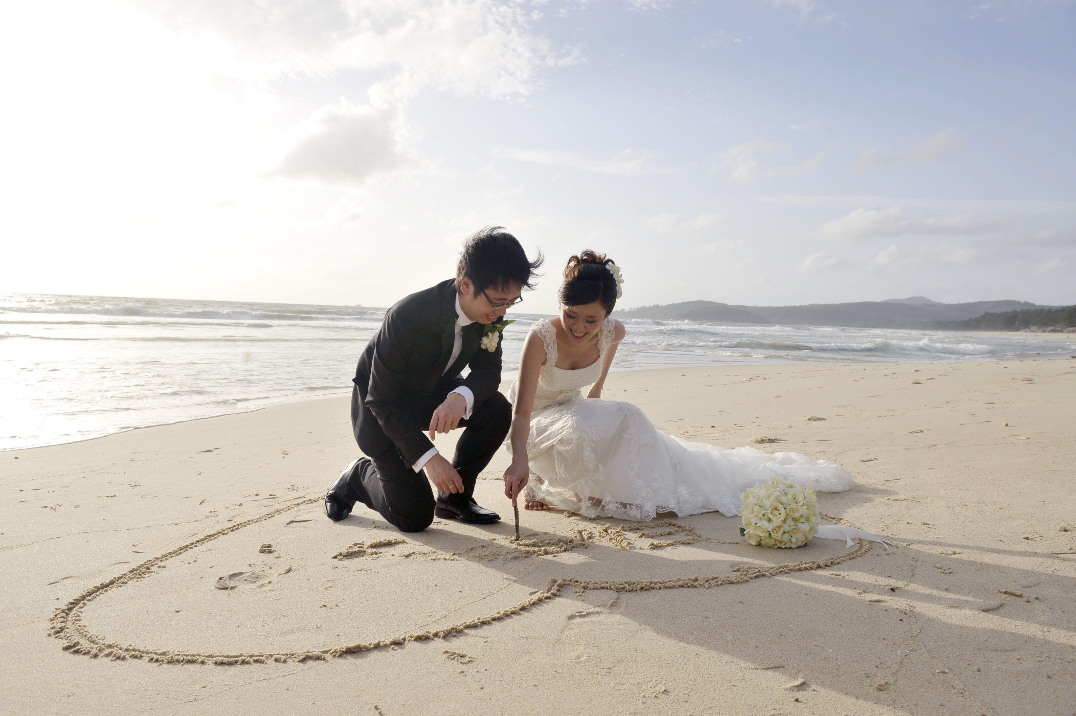 Beach Wedding Beachweddingheartinsand Wedding