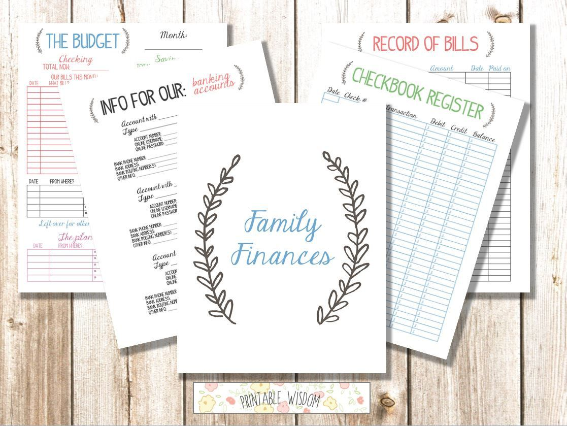Instant Download Family Binder Finances Budget Bills