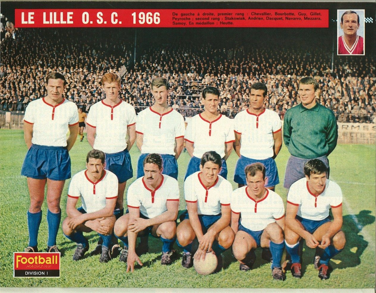LILLE OSC 1966 archives equipes foot Pinterest Lille osc