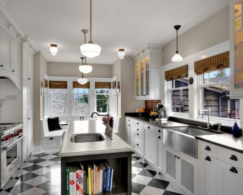 Small Galley Kitchen With Island Layout Novocom Top