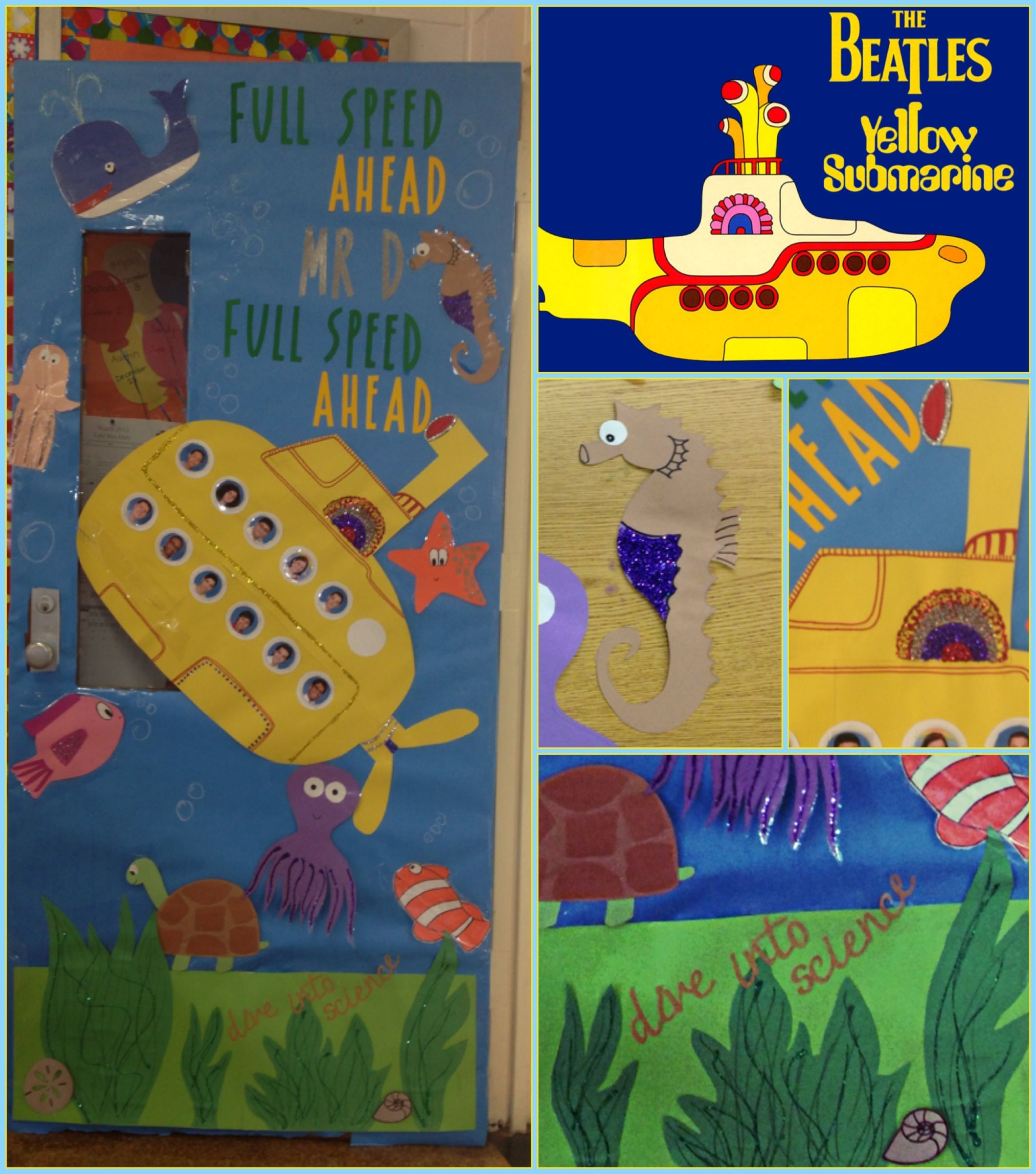 Beatles Inspired Yellow Submarine Classroom Door Made By A Tramutola