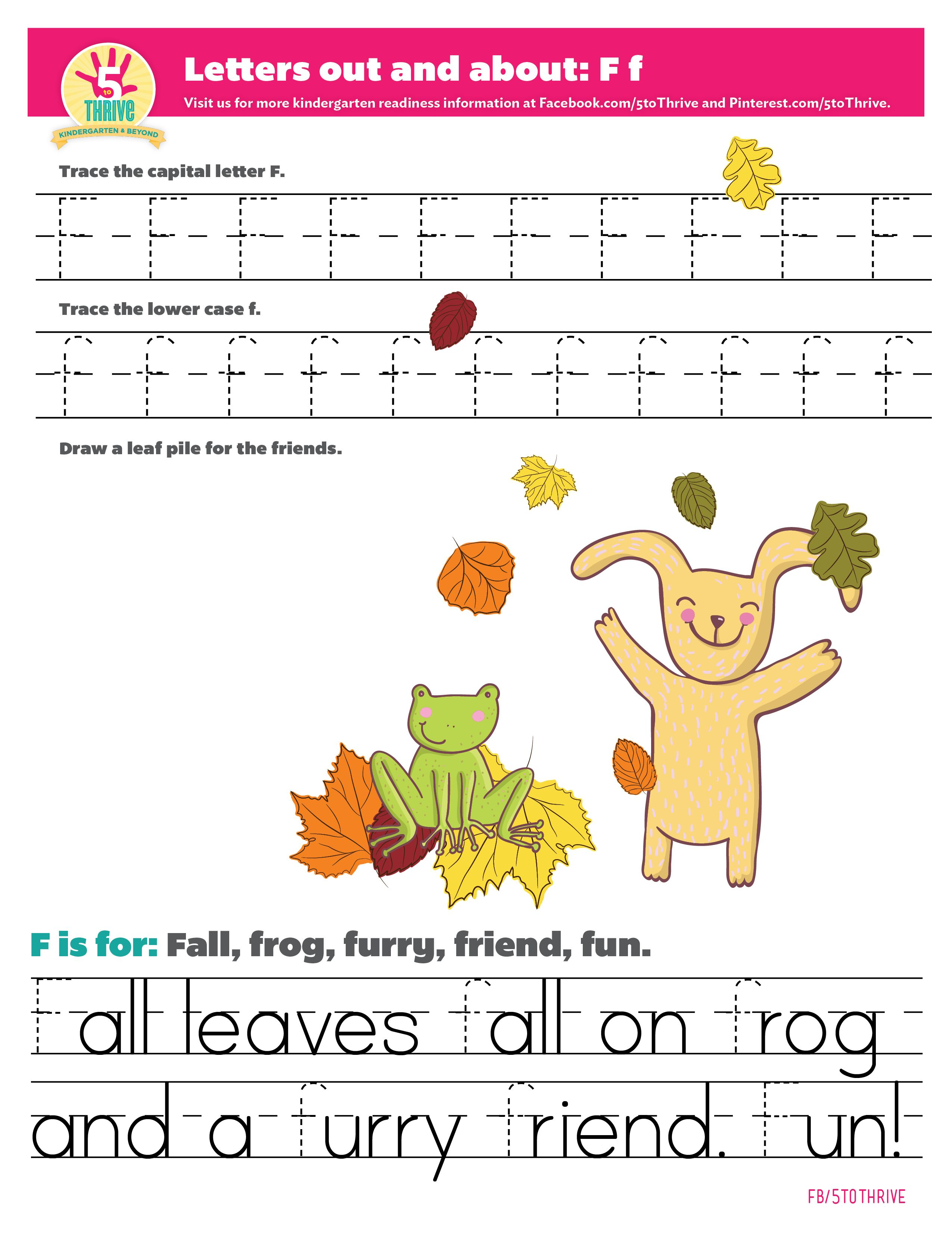 Letters Out And About F The Letter F Is For Fall Frog