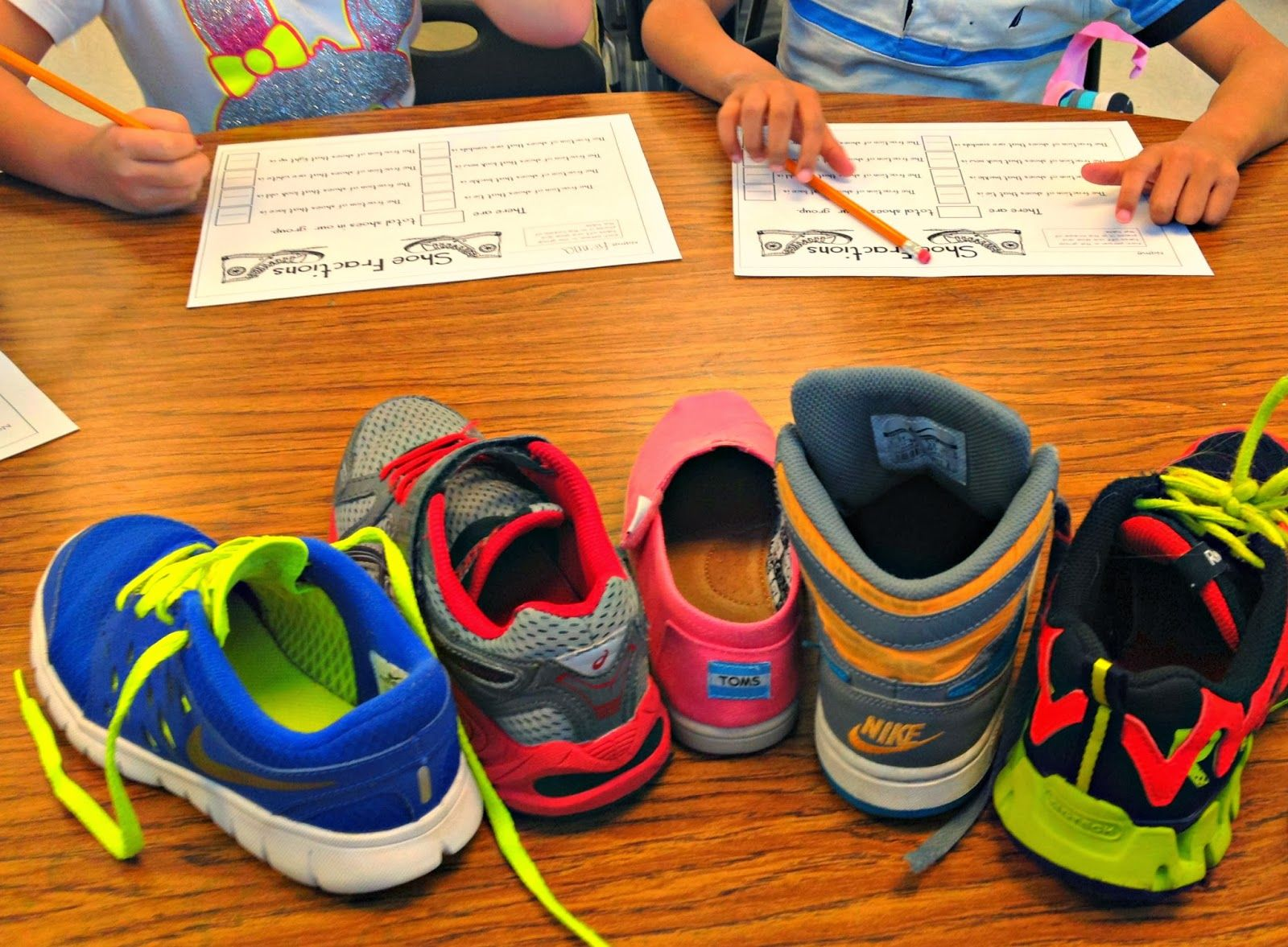 Take Off One Shoe R Fractions Fraction Printable