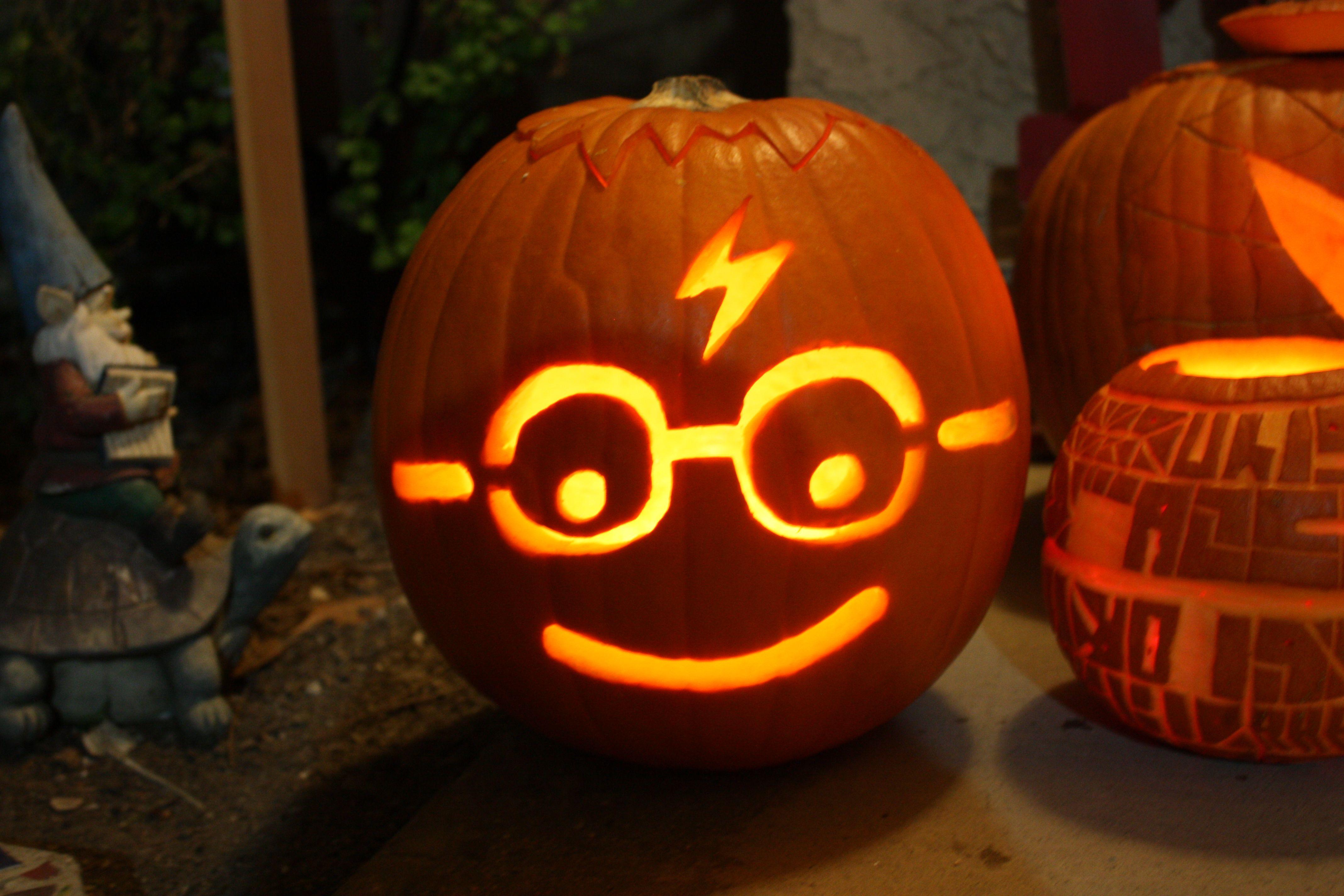 Harry Potter Jack O'Lantern Autumn! Pinterest