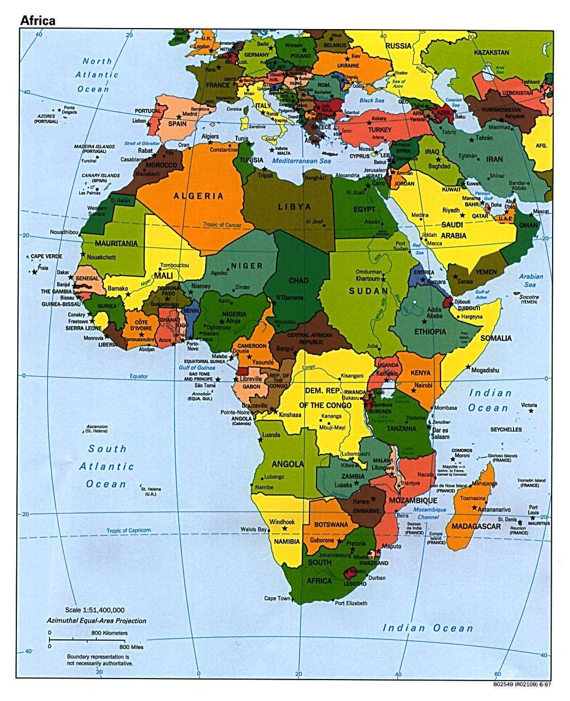 Map Of Africa Europe Middle East