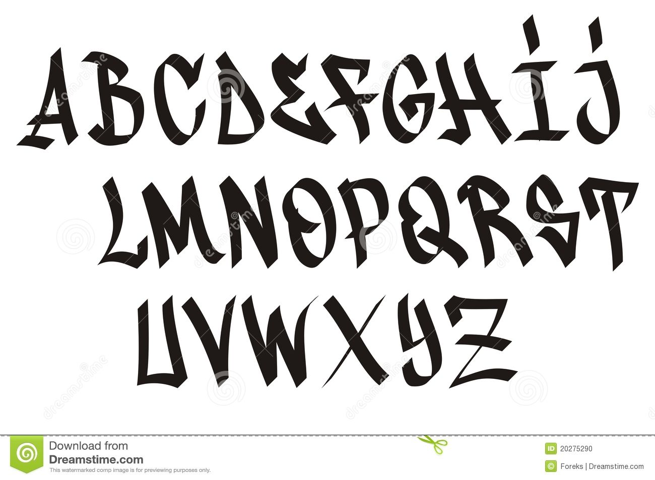 Images For > 3d Graffiti Fonts Alphabet graffiti art