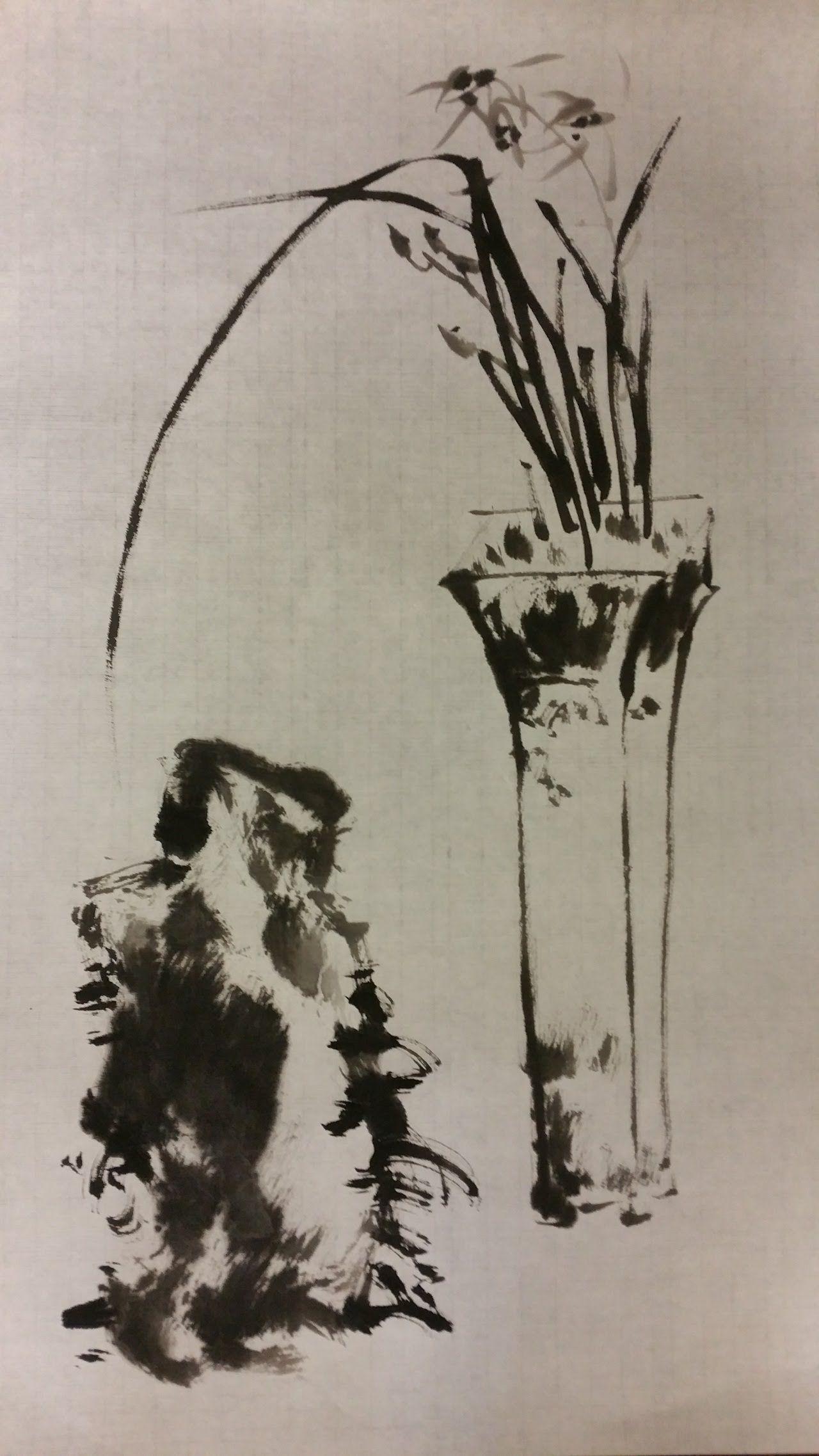 Korean Brush Painting (12) Orchid (소현의 난초 그리기) 世界朝鮮風
