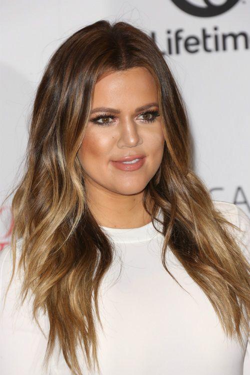 Kloe Kardashian Haircut With Layering Hair Color