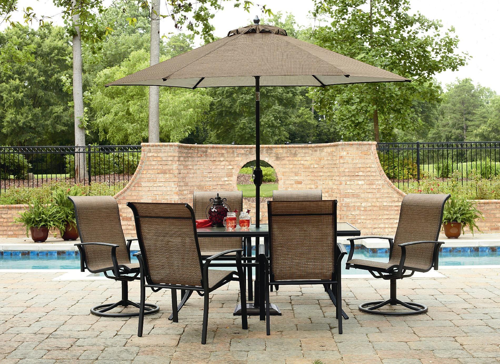 Garden Oasis Harrison 7 Piece Dining Set Outdoor Living