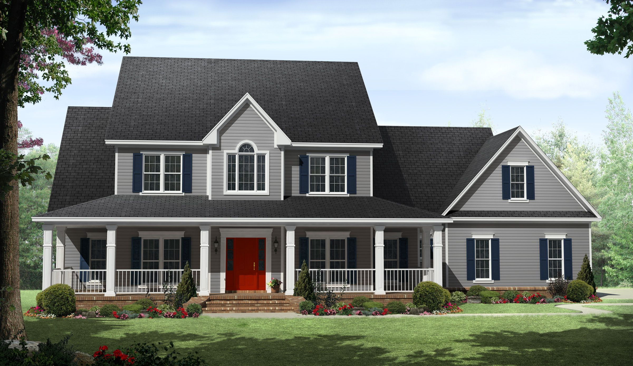 Plan 51118MM Country Beauty with Wraparound Porch