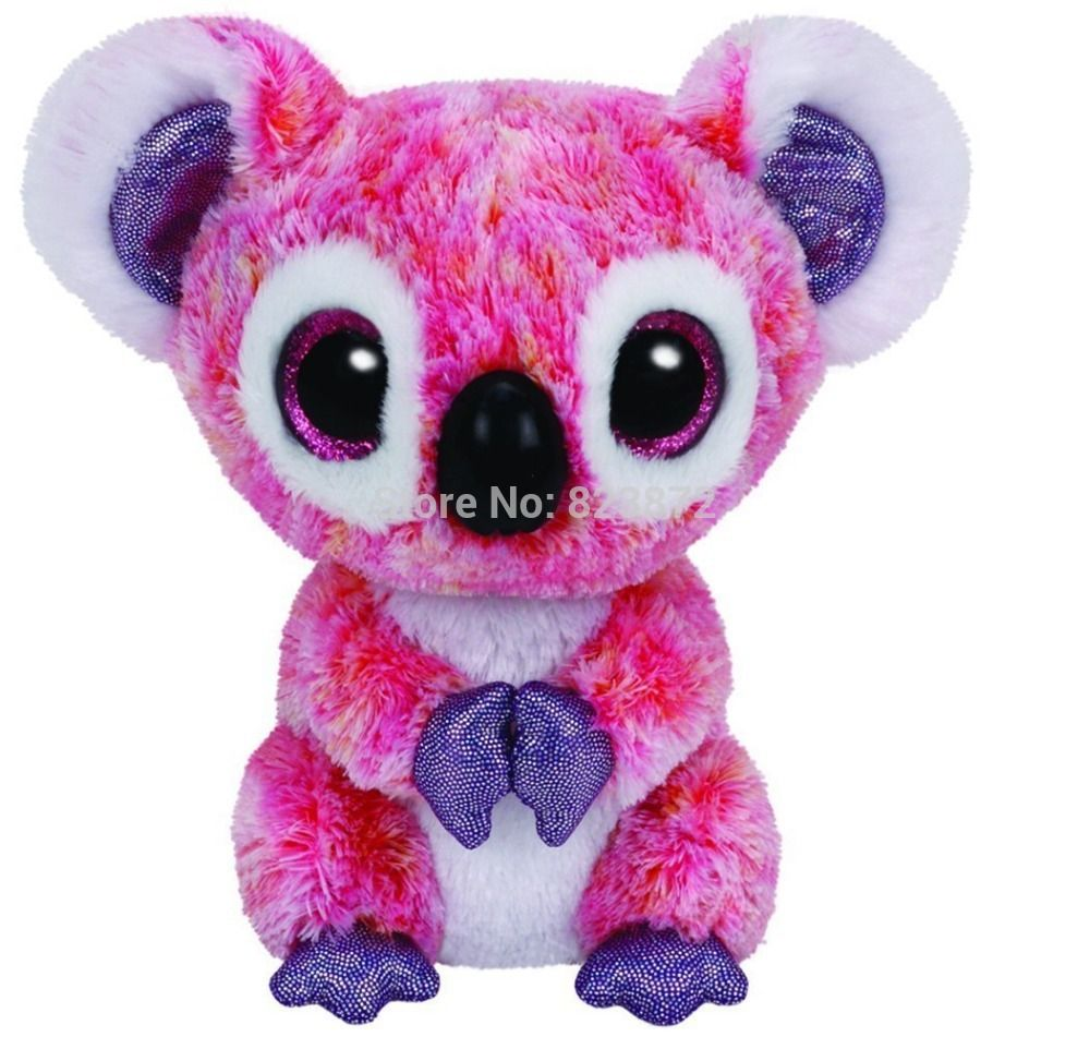 TY Plush Animals Beanie Boos Kacey Pink Koala Bear Toys 6