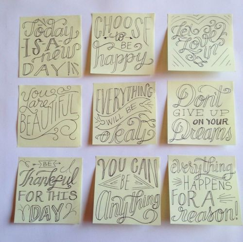 Image result for post its of inspo