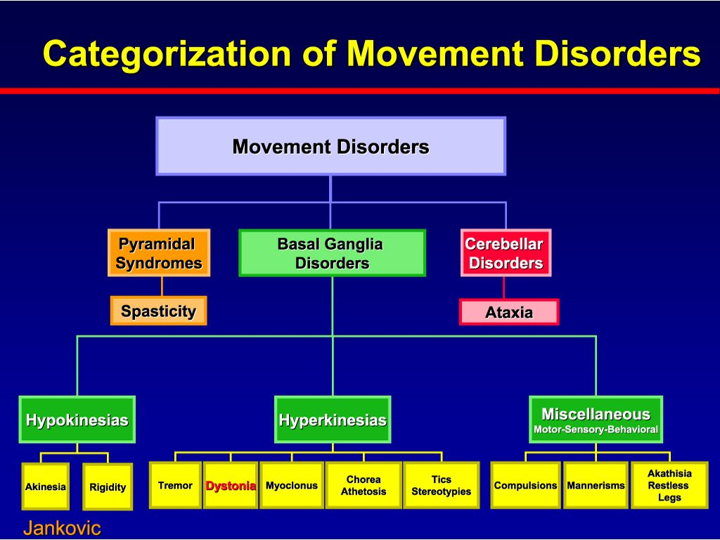 Movement Disorders Categorization Of Movement Disorders