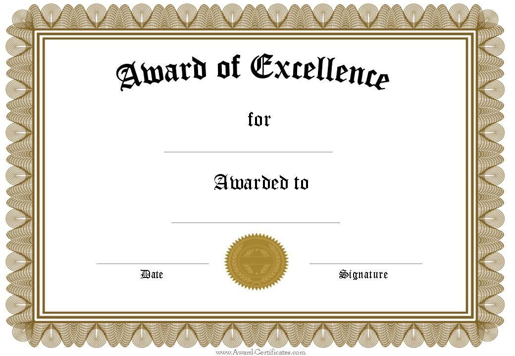 award certificate template word best template design award – Graduation Certificate Template Free