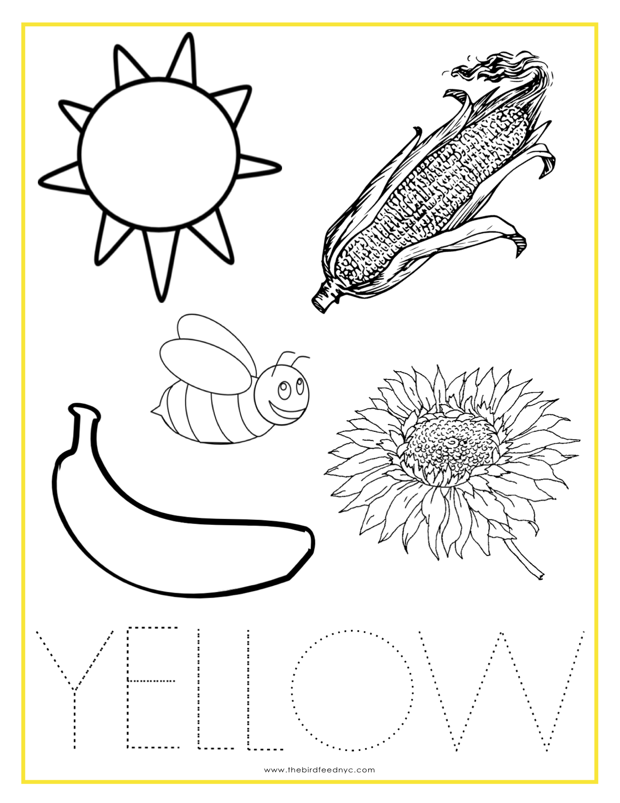 Yellow Color Activity Sheet Repinned By Totetude