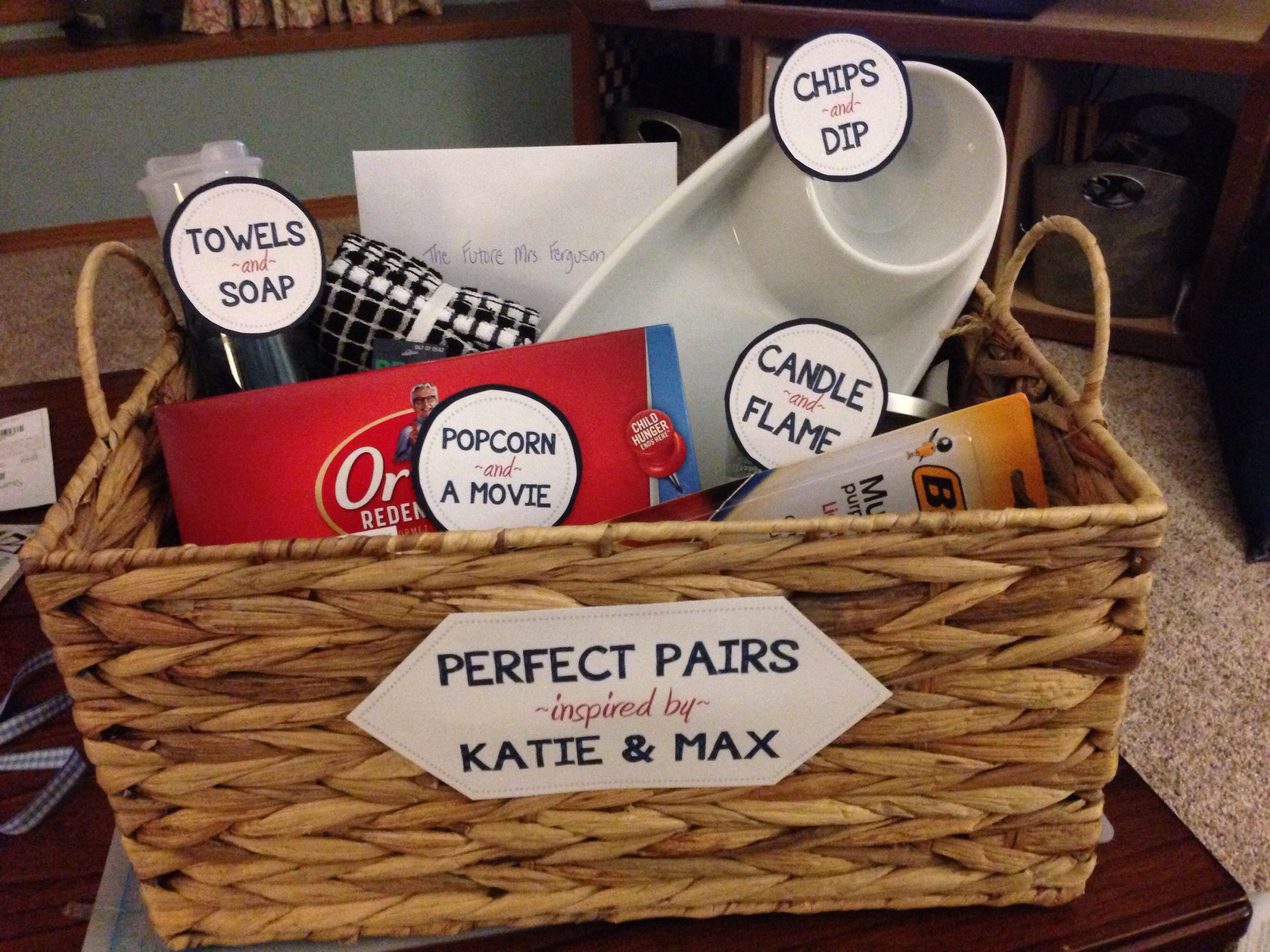 """""""Perfect pairs"""" bridal shower gift inspired by http//www"""