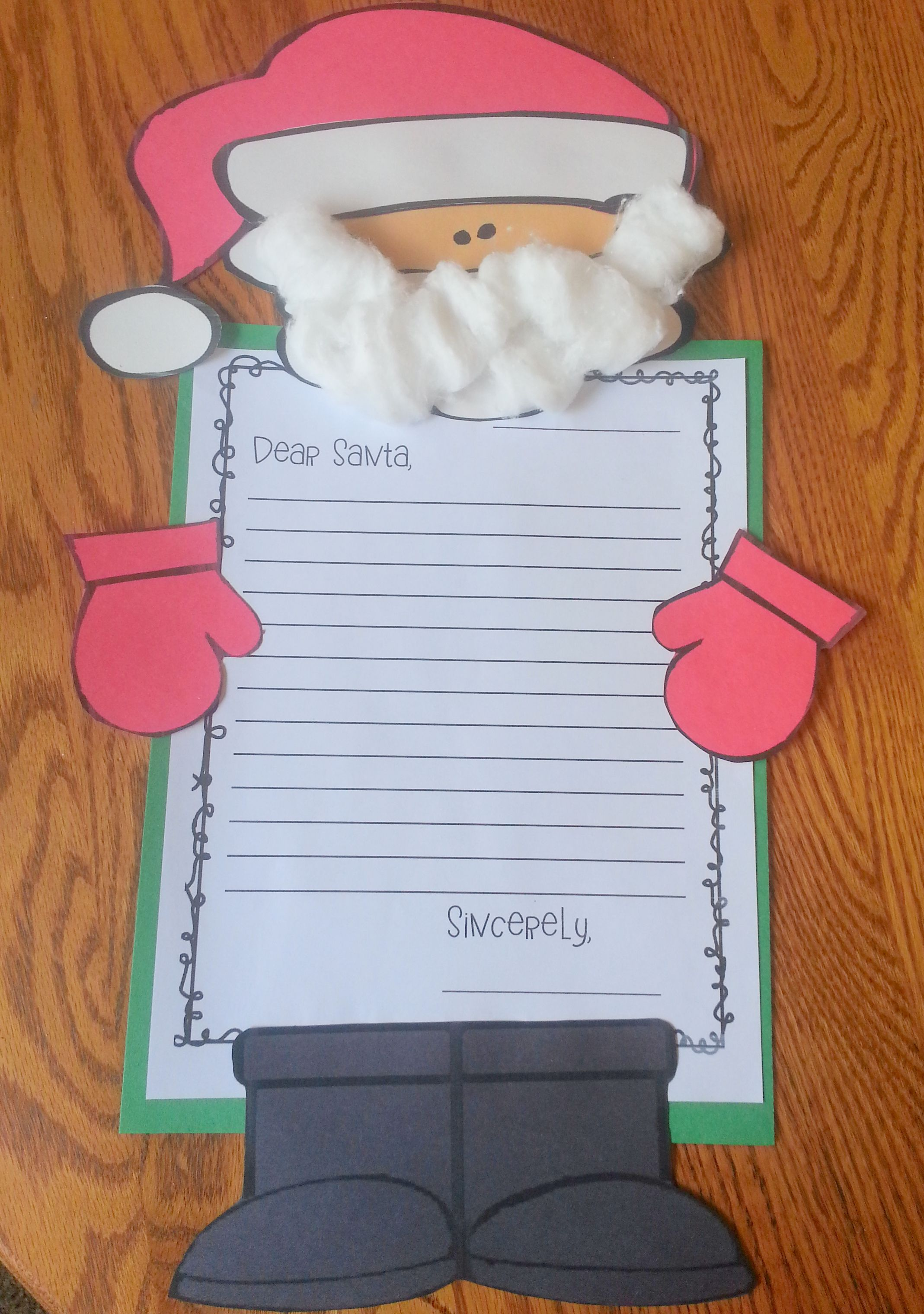 Santa Persuasive Letter And Craft