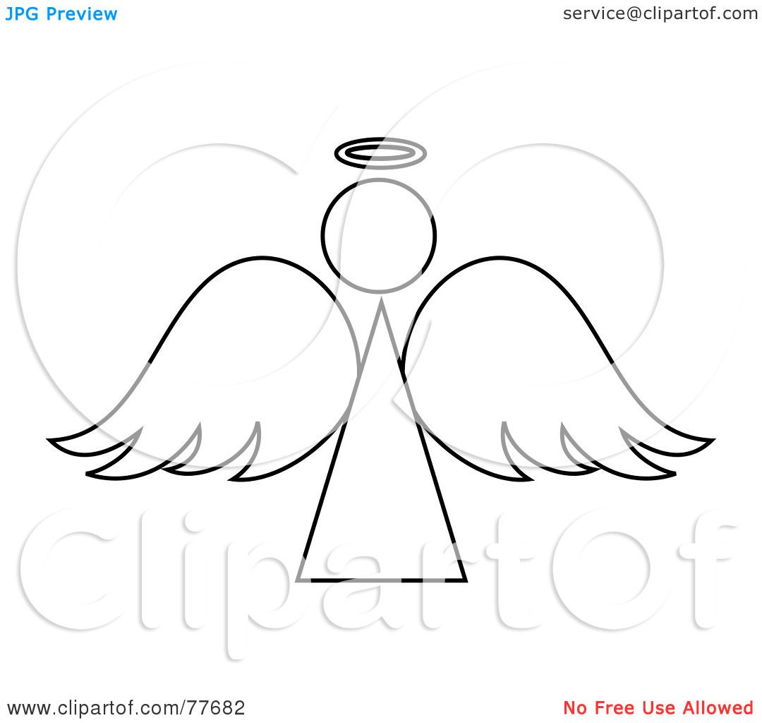 Angel Outline Image