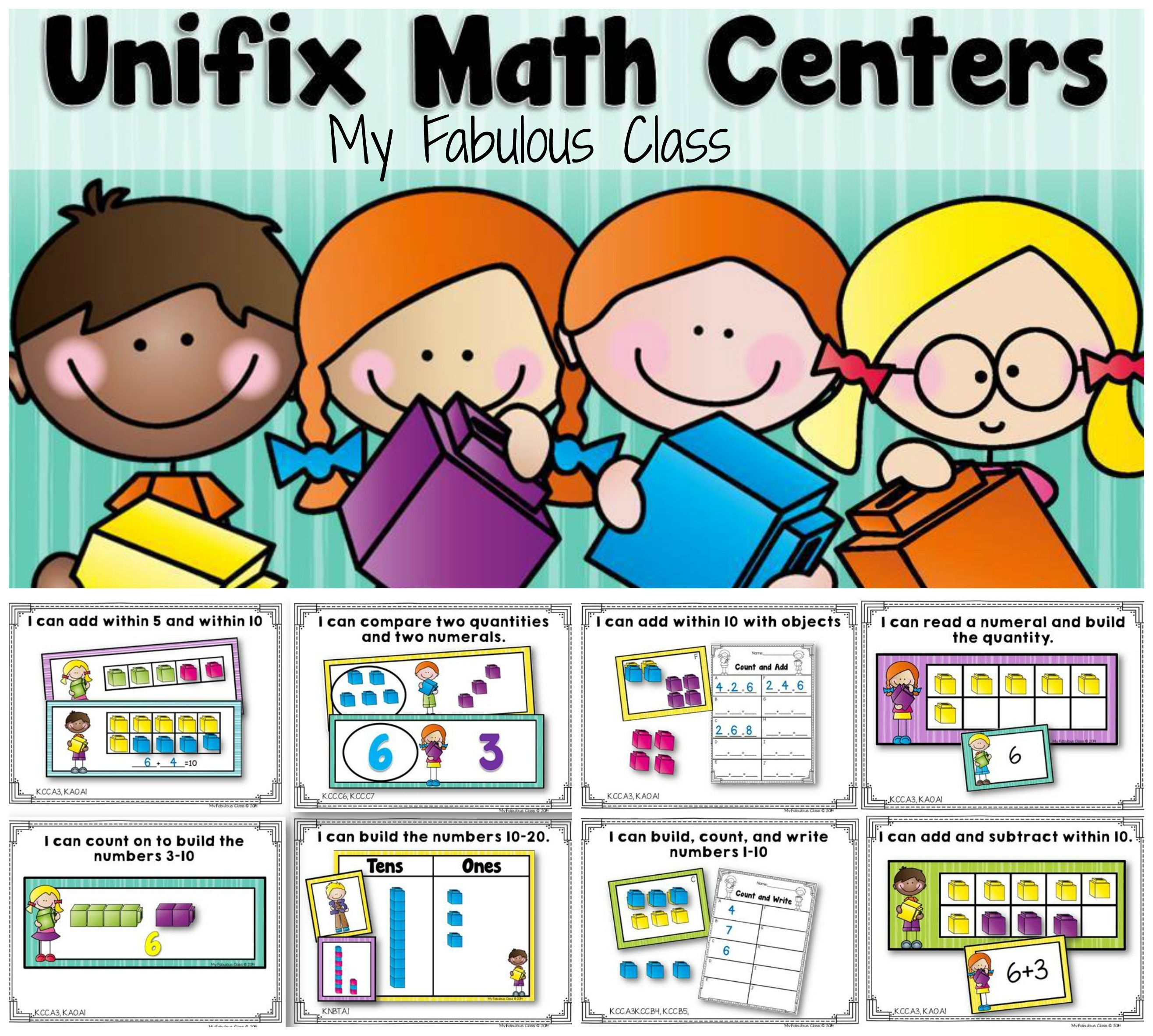Unifix Cube Math Centers For Kindergarten 8