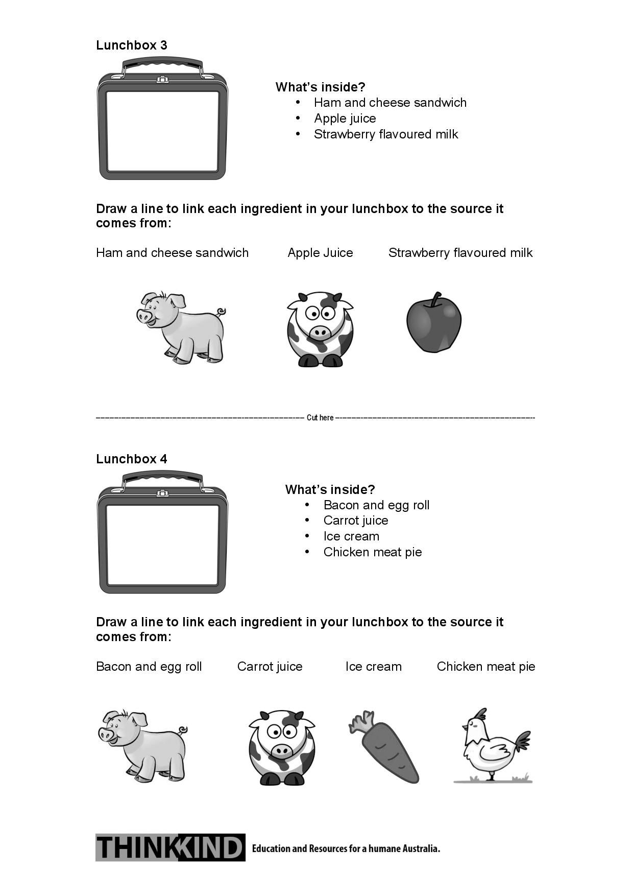 2 2 What S In Your Lunchbox Paddock To Plate Worksheet Nsw Early Stage 1 And Stage 1