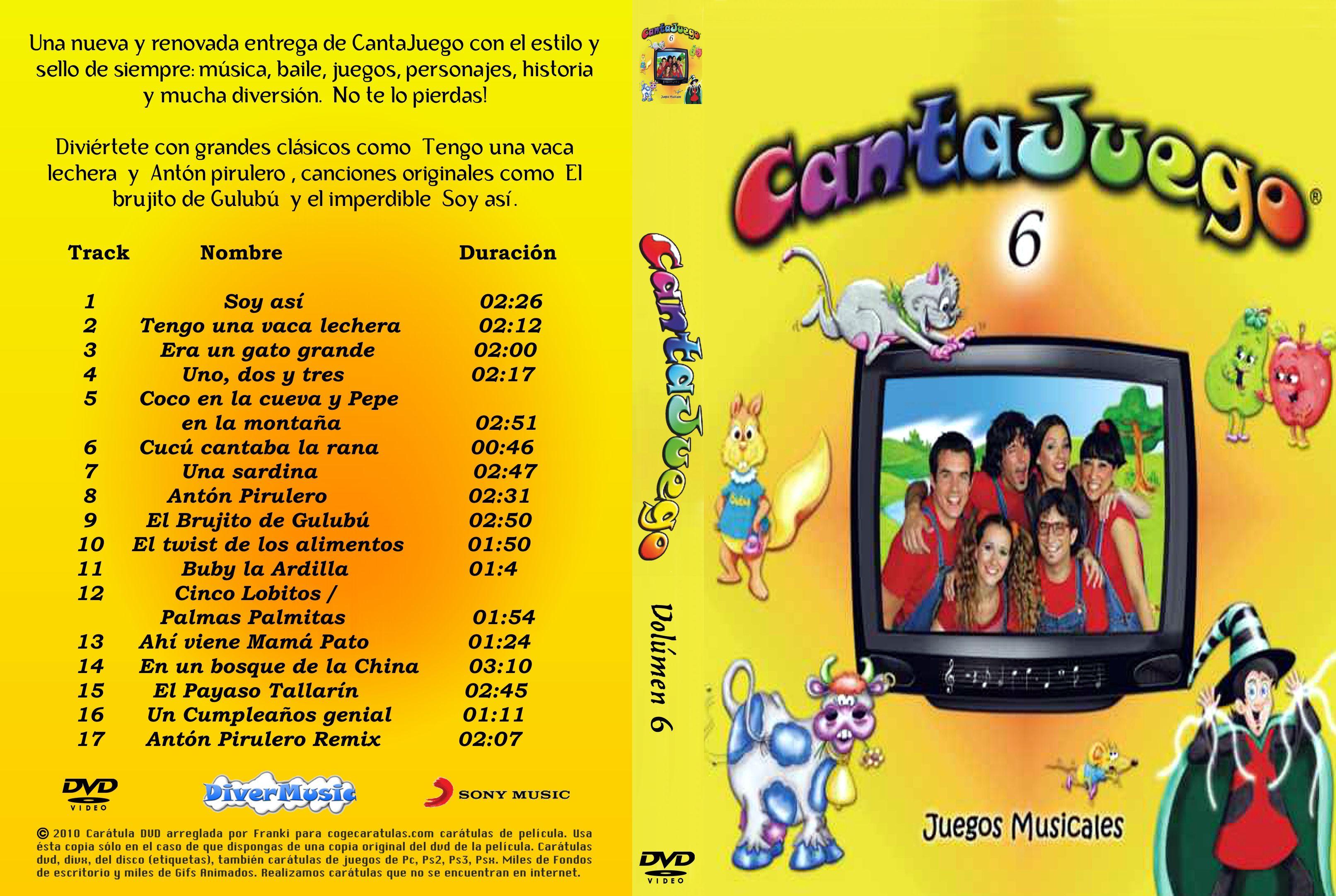 Caratula Cantajuegos Volumen 6