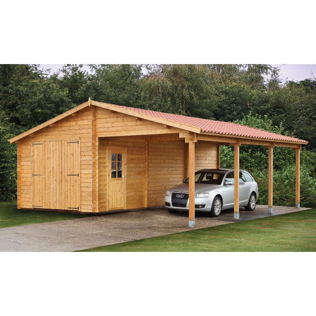 Wood sheds with carports Tuin 13ft x 27ft (4m x 8.30m