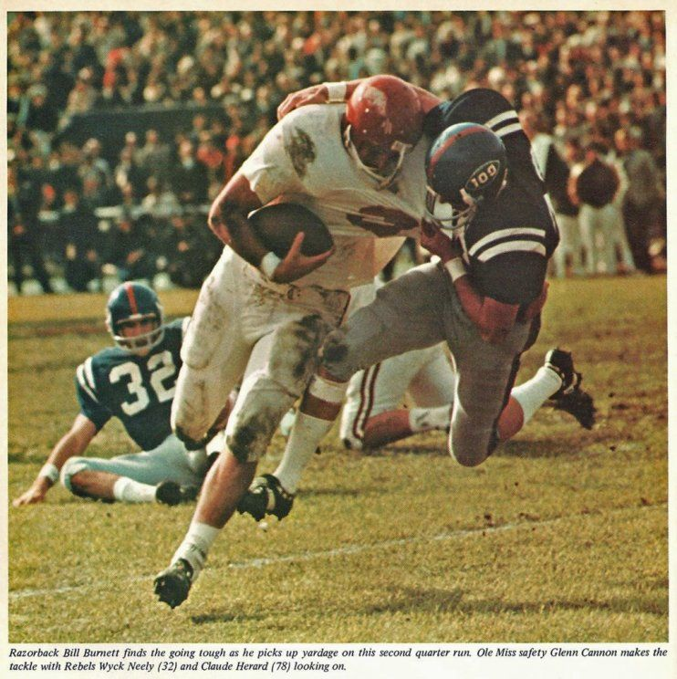 arkansas football 1970 RB Bill of Arkansas v