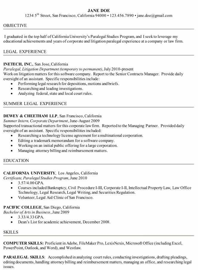 sample resume for paralegal paralegal resume sample the resume