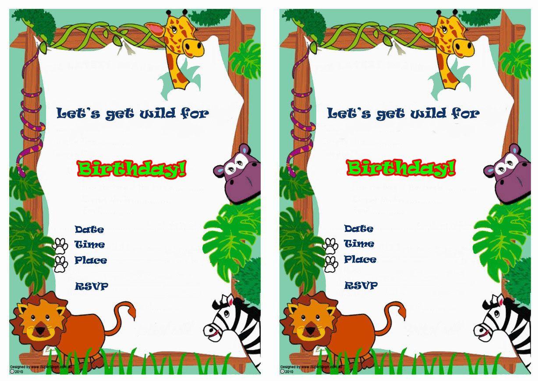 Animals Free Printable Birthday Party Invitations Birthday Party Invitations